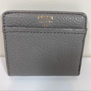 Fossil gray leather small wallet